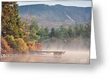 maine 26 Baxter State Park Mt. Khatadin Morning Mist on Daicey Pond Greeting Card