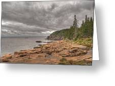 Maine Coastline. Acadia National Park Greeting Card