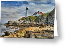 Maine Head Light Greeting Card