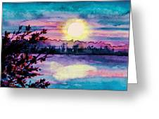 Maine October Sunset Greeting Card