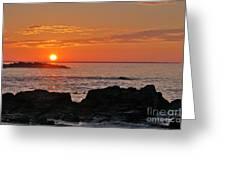 Maine Sunrise Greeting Card