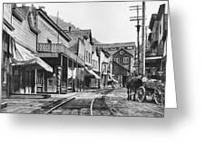 Mainstreet Burke Ghost Town - Idaho Greeting Card