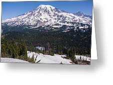 Majestic Rainier Reflected Greeting Card