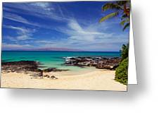 Makena Cove Maui Greeting Card