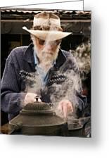 Making Billy Tea Greeting Card