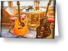 Making Music 004 Greeting Card by Barry Jones
