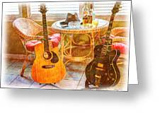 Making Music 005 Greeting Card by Barry Jones