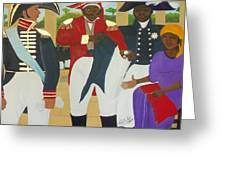 Making Of The Haitian Flag Greeting Card by Nicole Jean-Louis