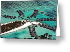 Maldives Aerial Greeting Card