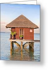 Maldives Villa Greeting Card by Jane Rix