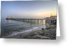 Malibu Pier Restaurant Greeting Card