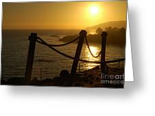 Malibu Sunset Greeting Card by Micah May