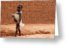 Malnourished Child Greeting Card