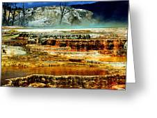 Mammoth Terrace - Yellowstone Greeting Card by Ellen Heaverlo