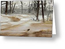Mammoth Terrace Runoff Greeting Card