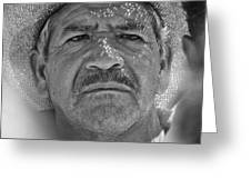 Man And Hat Greeting Card