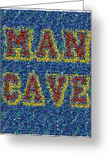 Man Cave Bottle Cap Mosaic Greeting Card by Paul Van Scott