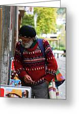 Man In A Red Sweater Greeting Card