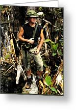 Man In The Wilderness Greeting Card