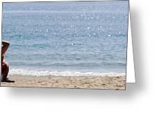 Man On Beach Greeting Card
