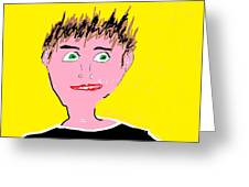 Man Smiling Greeting Card