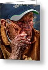 Man Smoking Greeting Card