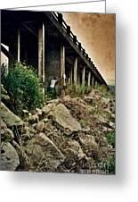 Man Under Bridge Greeting Card