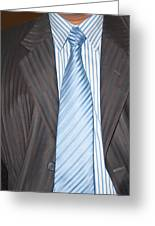 Man Wearing A Suit And Tie Greeting Card