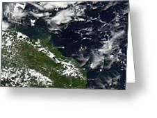 Manam Island, Papua New Guinea Greeting Card