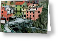 Manarola Houses On The Cinque Terre II Greeting Card
