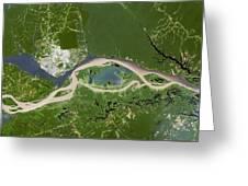 Manaus, Satellite Image Greeting Card