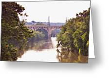 Manayunk Bridge Along The Schuylkill River Greeting Card
