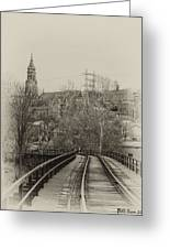Manayunk From The Tressel Tracks Greeting Card