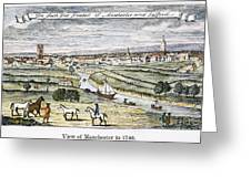 Manchester, England, 1740 Greeting Card