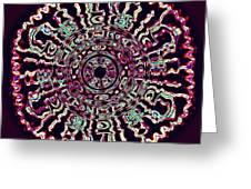 Mandala Fluid Emotions Greeting Card