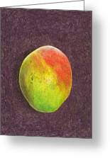 Mango On Plum Greeting Card