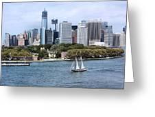 Manhattan Backdrop Greeting Card
