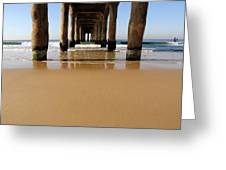 Manhattan Beach Pier Paddler Greeting Card