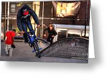 Manhattan Bmx Greeting Card