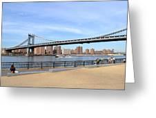 Manhattan Bridge1 Greeting Card