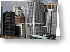 Manhattan Buildings Greeting Card