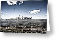 Manhattan Greeting Card by Leslie Leda
