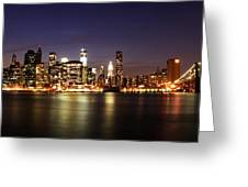 Manhattan Panorama Greeting Card