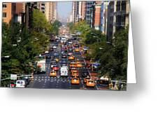 Manhattan Street Greeting Card