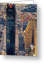 Manhattan Streets From Above Greeting Card