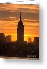 Manhattan Sunrise II Greeting Card