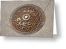 Manhole Cover In Chicago Greeting Card