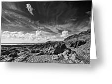 Manorbier Rocks Greeting Card