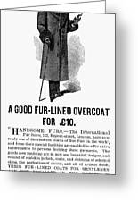 Mans Overcoat, 1888 Greeting Card