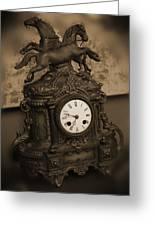 Mantel Clock Greeting Card